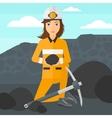 Miner holding coal in hands vector image vector image