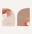 modern geometric art deco wedding invitation vector image vector image