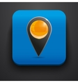 Navigator symbol icon on blue vector image vector image