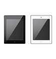 New realistic tablet black and white mock up vector image vector image
