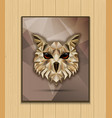 owl bird low poly design vector image