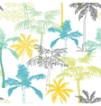 Palm Trees California Grey Blue Yellow vector image