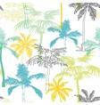 Palm Trees California Grey Blue Yellow vector image vector image