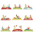 People On Picnic Outdoors vector image vector image