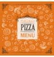 Pizza sketch background vector image vector image