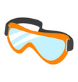 protective goggles icon flat style vector image vector image