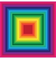 Rainbow square background of colored lines vector image