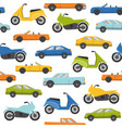 seamless pattern with cars and motorbikes vector image vector image