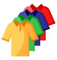shirt polo color set vector image