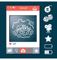Social network photo frame vector image