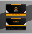 stylish professional business card template design vector image vector image