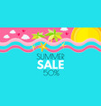 summer sale hot vacation design template enjoy vector image vector image