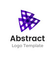 triangles logo design template business vector image vector image