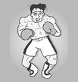 vintage boxing vector image vector image