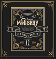 Vintage frame label for whiskey and beverage vector image vector image