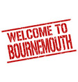 welcome to bournemouth stamp vector image vector image