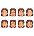 woen facial gestures set vector image