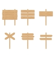 Wooden signboards arrow vector image vector image