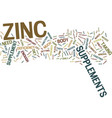 zinc supplements for your body text background vector image vector image