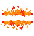 colorful autumn leaves red autumn sale frame vector image