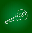 Hand draw key vector image