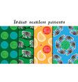 Seamless indian patterns set vector image