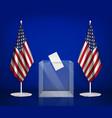 american ballot box composition vector image