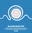Arrow down Download Load Backup sign icon Blue and vector image