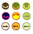 arrow icon set with circle vector image vector image