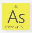 arsenic vector image vector image