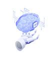 artificial intelligence smart robot conscious vector image vector image