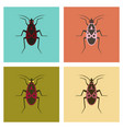 assembly flat icons soldier bug vector image vector image