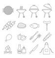 barbecue grill icon vector image vector image
