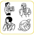 Businessman and businesswoman - set vector image