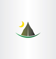 camping tent and moon icon vector image