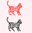 Cat ornate vector image vector image
