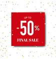 final sale poster with stars vector image vector image