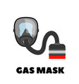 gas mask icon on white vector image vector image