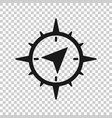 global navigation icon in transparent style vector image vector image