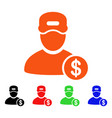 guy salary icon vector image vector image