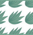 hand draw simple tropical green leaves seamless vector image vector image