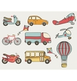 hand-drawn transportation icon set vector image vector image