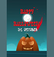 happy halloween banner pumpkins traditional vector image