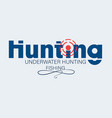 hunting underwater hunting and fishing vector image vector image