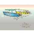 India Calangute Beach sketch drawing with two vector image vector image