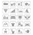 interior icons vector image