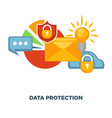 internet security and data protection flat vector image