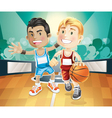 kids playing basketball vector image vector image