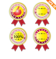 Label stitch guarantee tag - - EPS10 vector image vector image