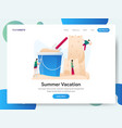 landing page template summer vacation vector image vector image